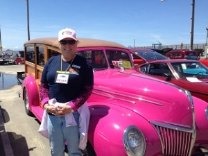 I really liked this Pink Woody at the car show